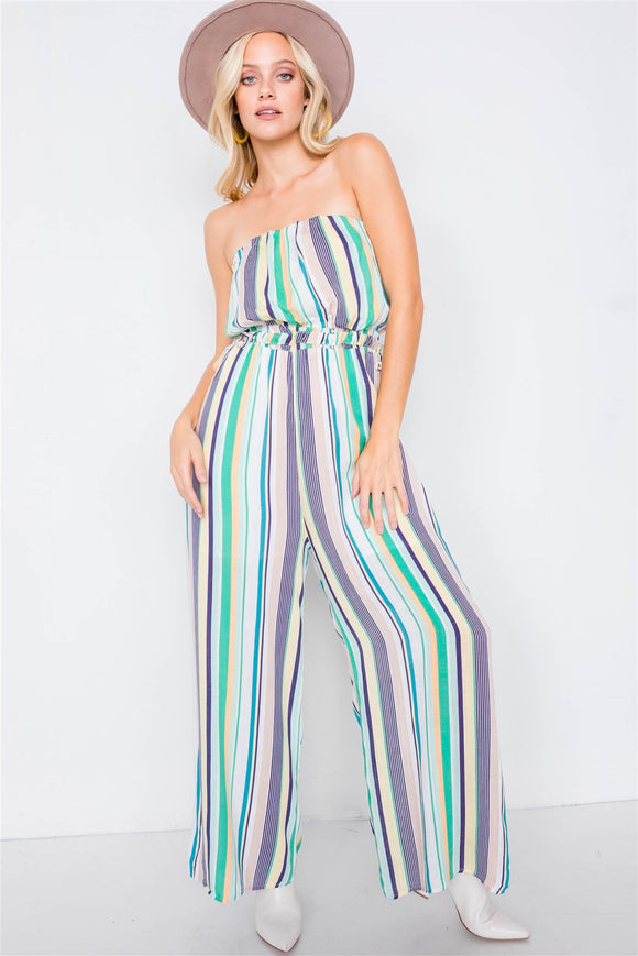 Abby Multi Stripe Wide Leg Jumpsuit