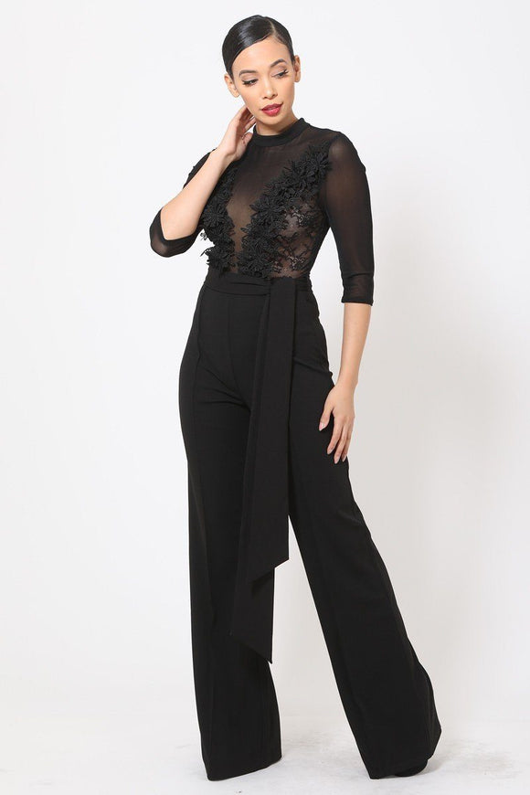 Emily Mesh See Through  Jumpsuit