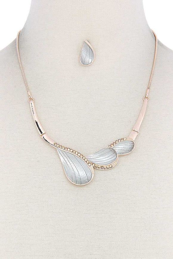Two Tone Metal Necklace