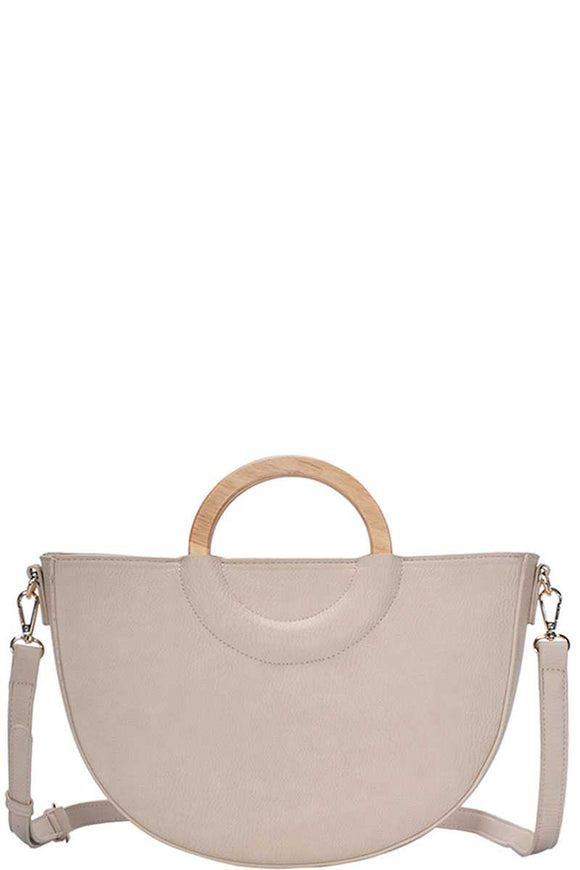 Stylish Semi Circle Modern Satchel With Long Strap