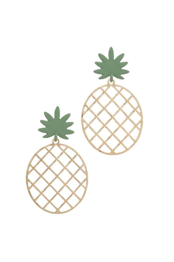 Pineapple Shape Post Drop Earring