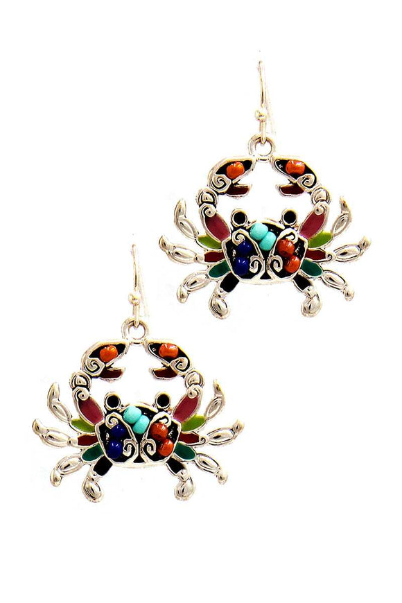 Fashion Cute Crab Charm Drop Earring