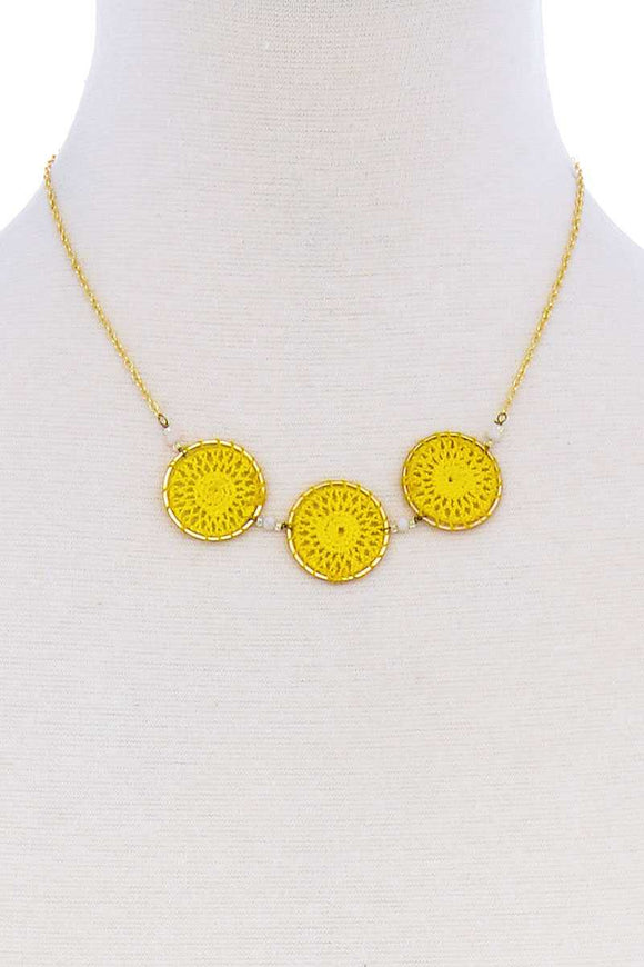 Fashion Triple Circle Pendant Necklace