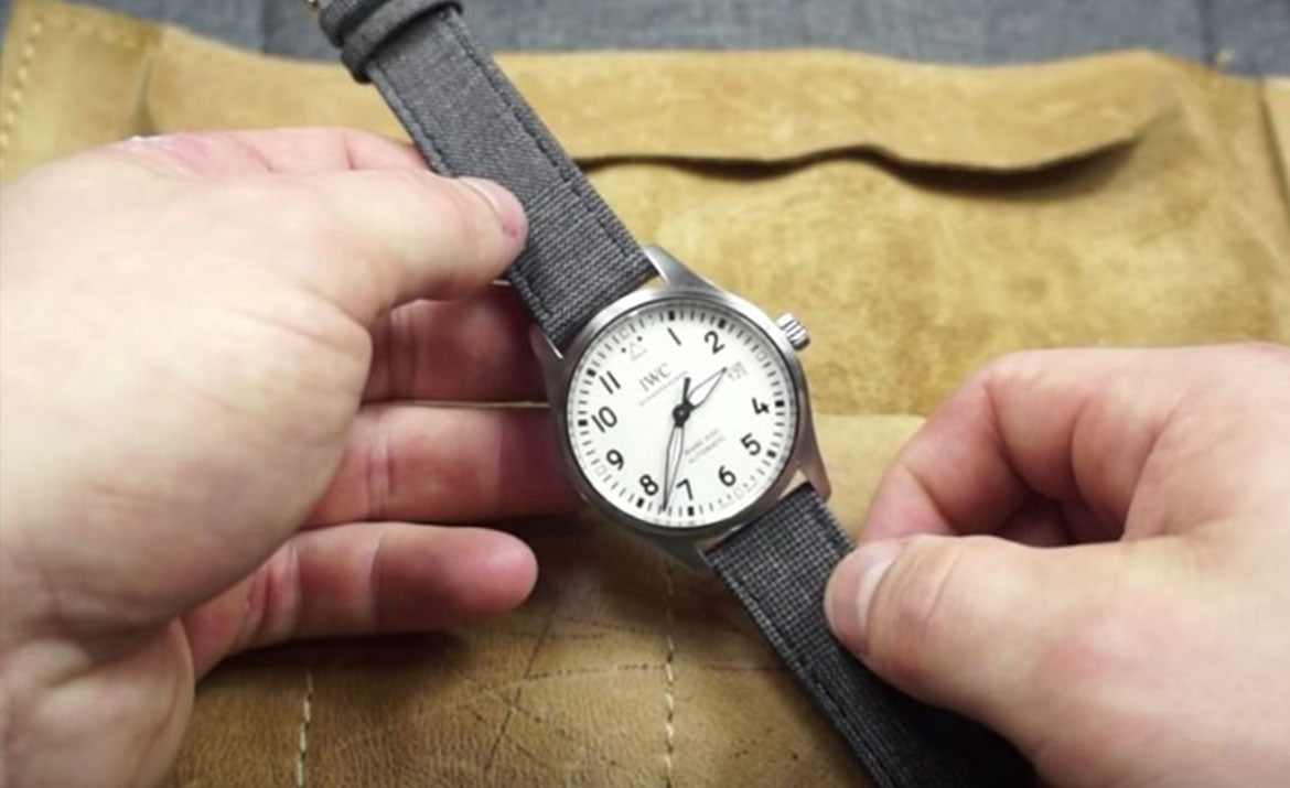 StrapBandits Fabric Straps featured in IWC MK XVIII REVIEW video
