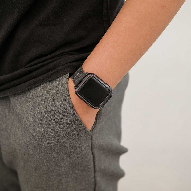 Apple Watch MID GREY NARROW CHALK STRIPE