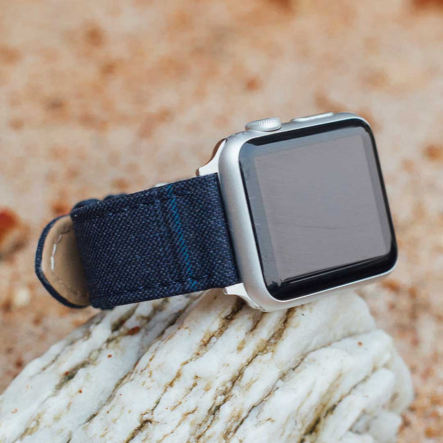 Apple Watch BLUE WITH BLACK & BLUE WINDOWPANE