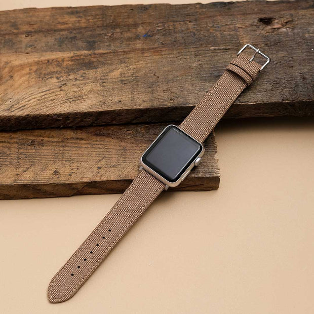 Apple Watch TAN solid weave effect