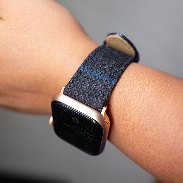 Apple Watch CHARCOAL WITH BLUE CHALKSTRIPE