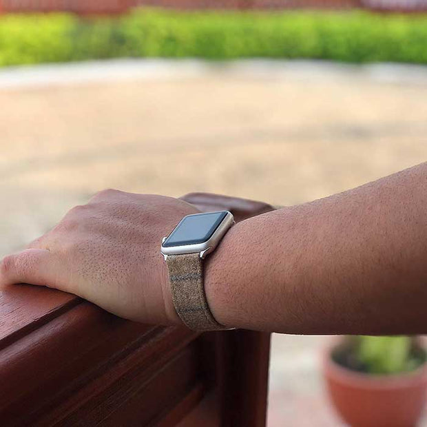 Apple Watch LIGHT TAN DOUBLE STRIPE