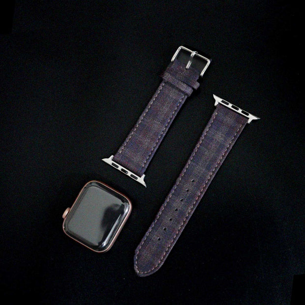 Apple Watch PLUM/NAVY/BROWN GRID CHECK
