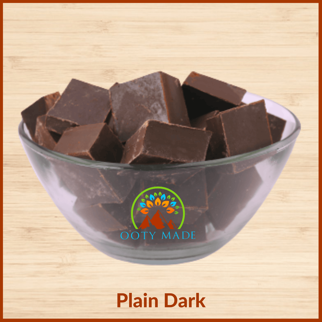 Plain Dark Ooty Homemade Delicious Chocolate