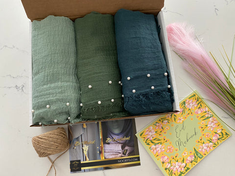GIft Boxes Crinkles With Pearls Bundle