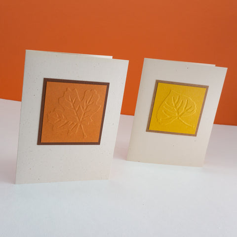 Embossed Fall Leaves Notecards