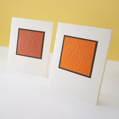 Embossed Pumpkin Notecards
