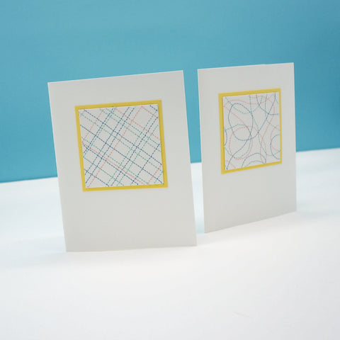 blank notecards - pastel thread stitching