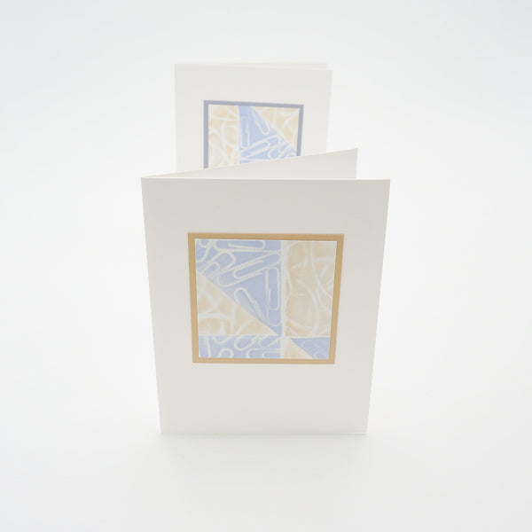 blank notecards - stamped paperclips and rubber bands