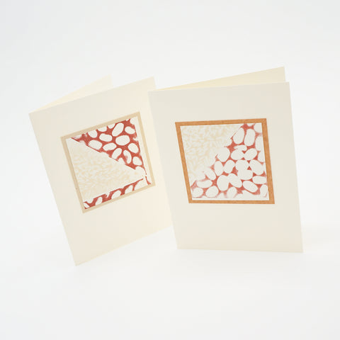 blank notecards - stamped rice and beans