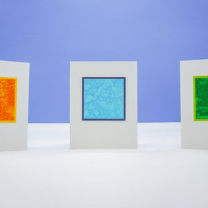 blank notecards - tissue paper and water design