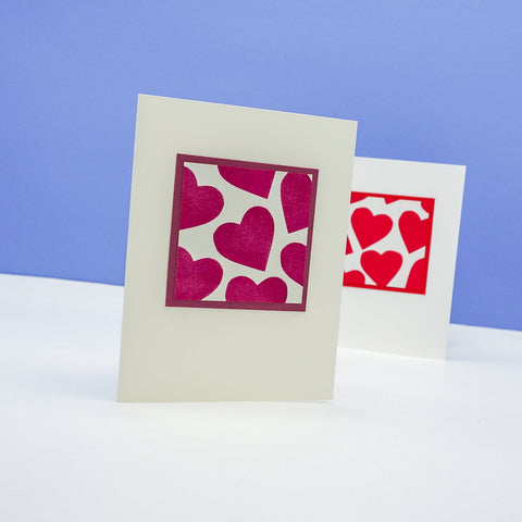Stamped Hearts Notecards
