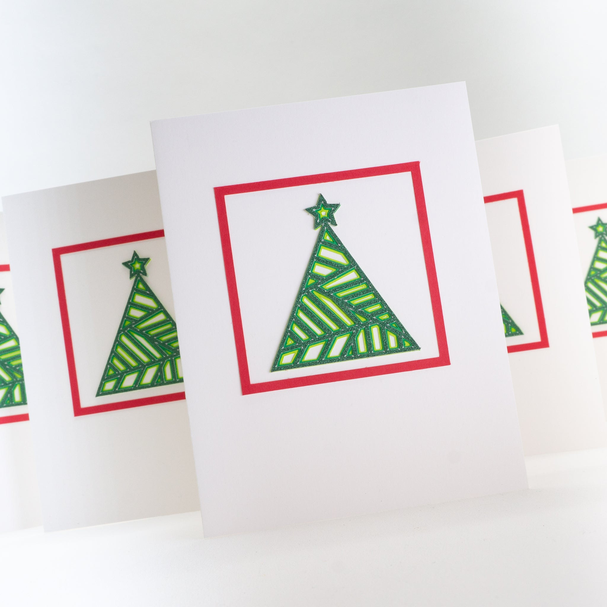 Layered Christmas Tree Notecards