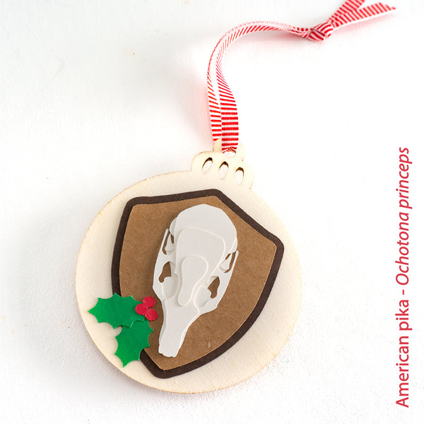 Six Mammal Skull Christmas Ornaments