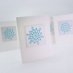Layered Snowflake Notecards