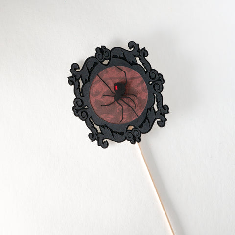 Black Widow Spider Portrait Topper