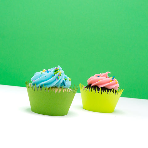 Green Grass Cupcake Wrappers