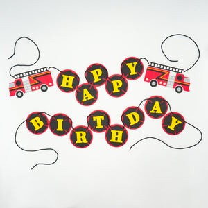 "Firefighter ""Happy Birthday"" Banner"