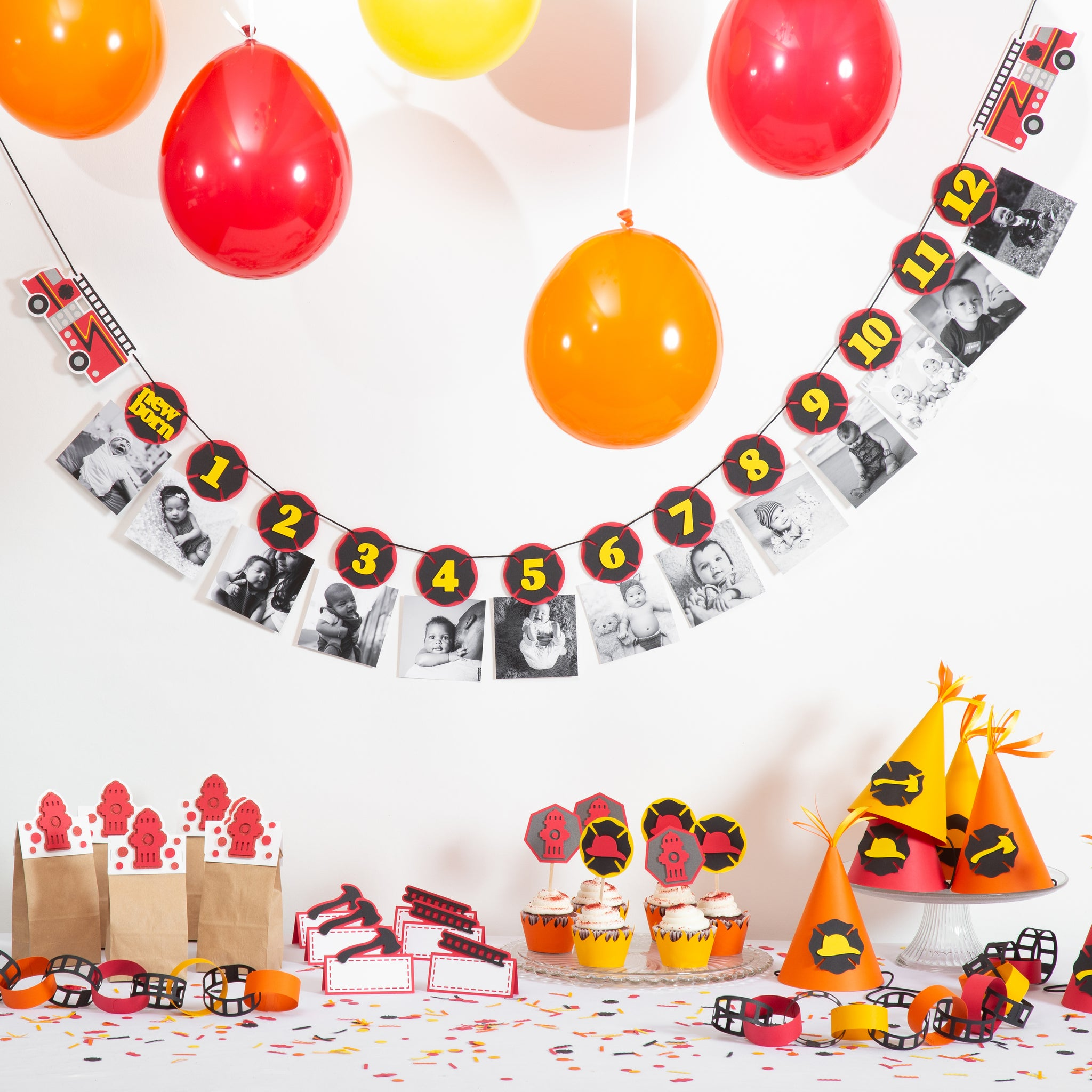 Firefighter 1st Birthday Party Box Set