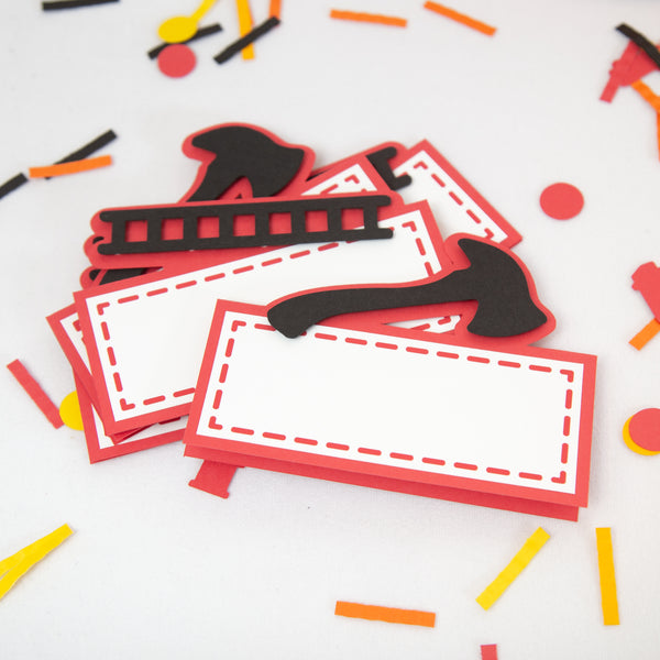 Firefighter Buffet Labels / Place Cards