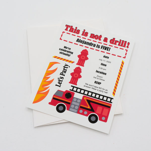 Firefighter Party Invitation