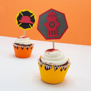 Firefighter Cupcake Toppers