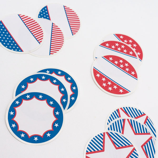 Patriotic Drink-labeling Stickers