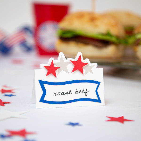 Patriotic Food/Buffet Labels