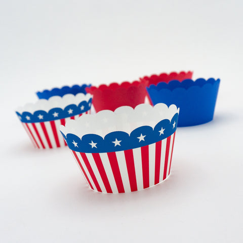 Patriotic Cupcake Wrappers