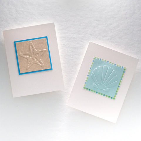 Embossed Shore Life Notecards