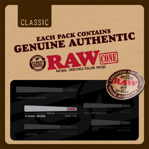 RAW Classic King Size Authenticity Card
