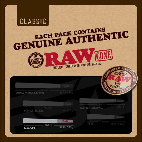 RAW Classic Lean Authenticity Card