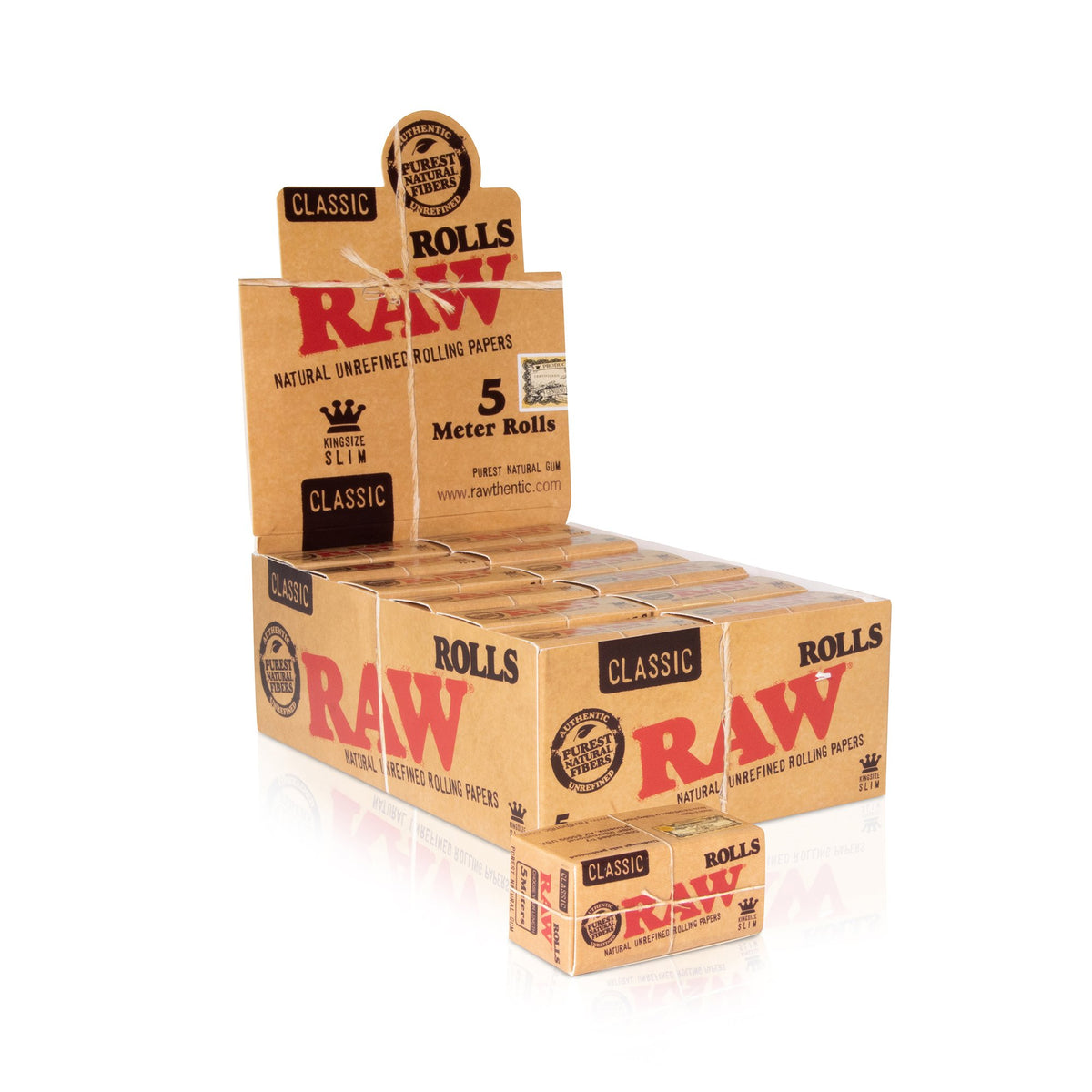 RAW Classic Paper Rolls King Size Slim - 5 Meters Rolling Papers WAR00344-MUSA01 esd-official