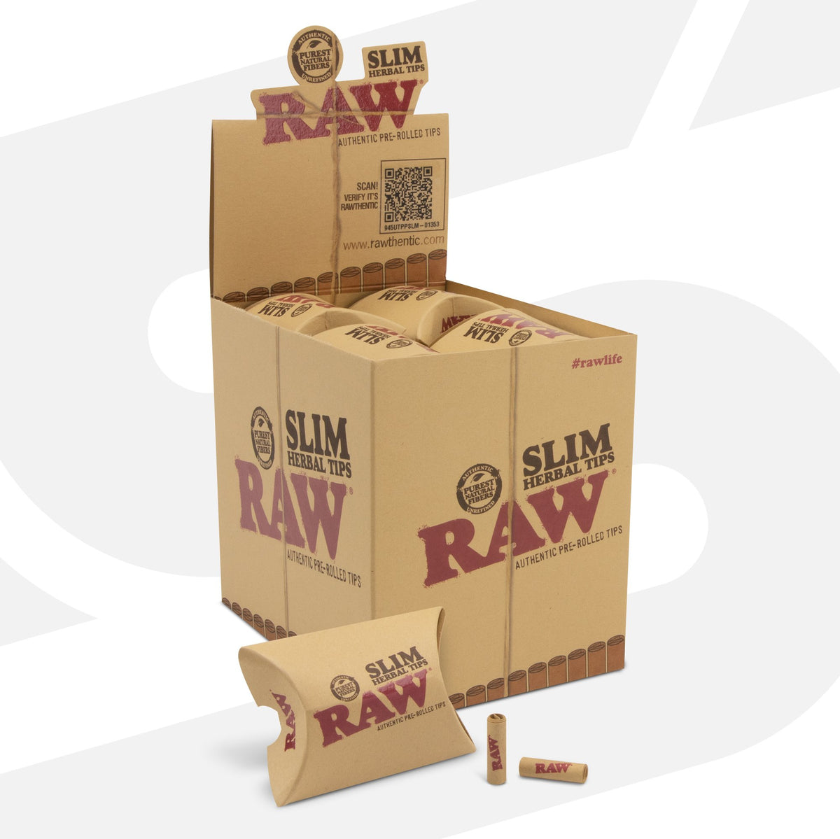 RAW Herbal Pre-Rolled Slim Tips RAW Tips WAR00285-MUSA01 esd-official