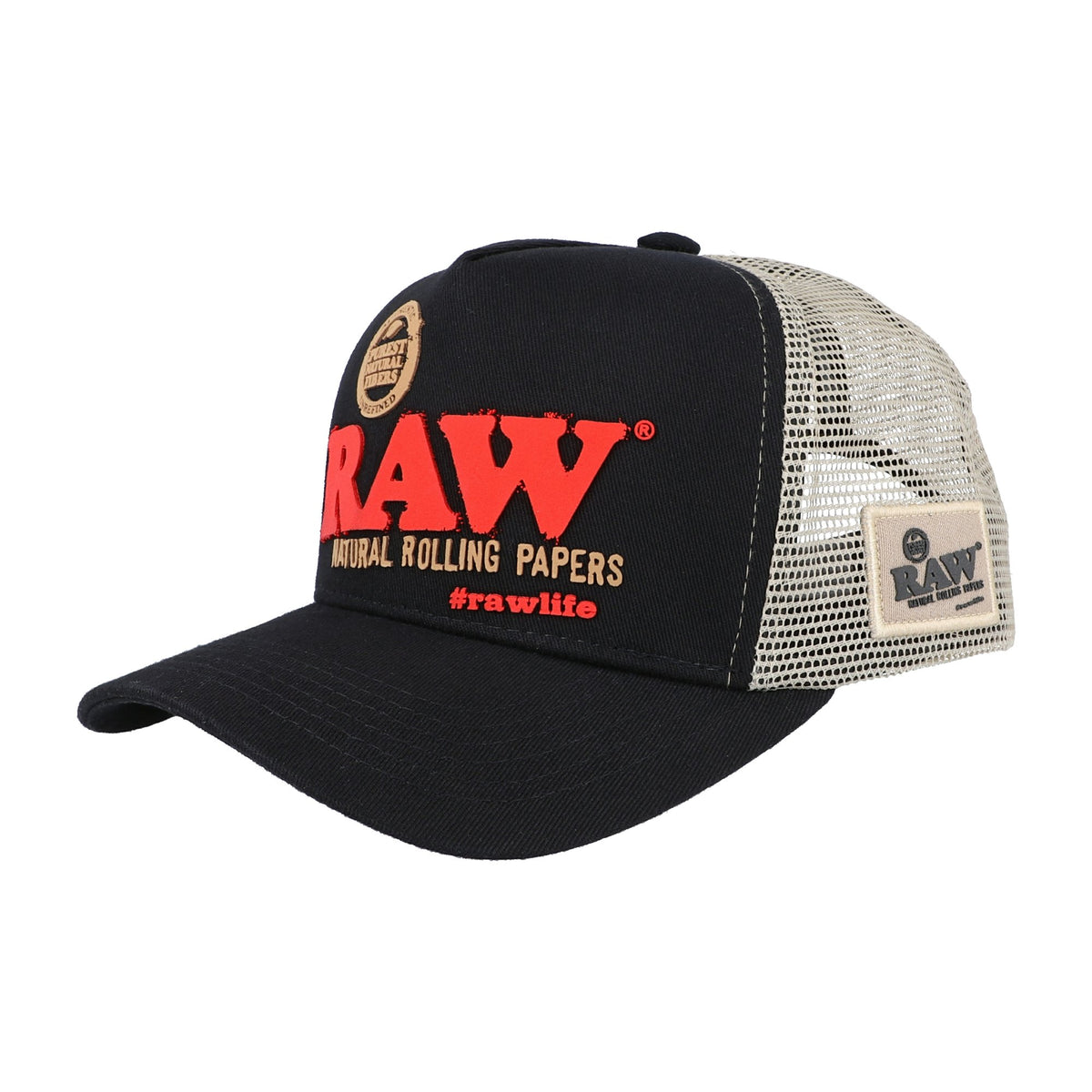 RAWlife Brazil Black Trucker Hat RAW Hats WAR00405-MUSA01 esd-official