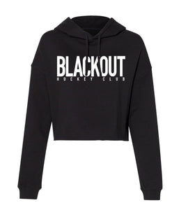 BLACKOUT BOLD CROPPED HOODIE (WOMENS)