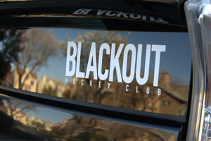 BLACKOUT Text Window Decal