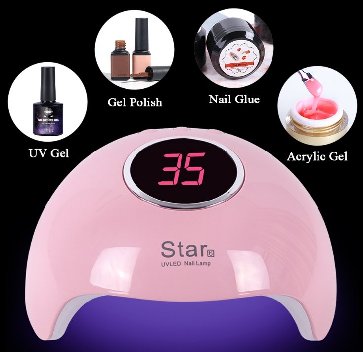 Gelcure™ Nail Dryer UV Lamp LED Light Gel Polish Curing Machine - CHIC GIZMO