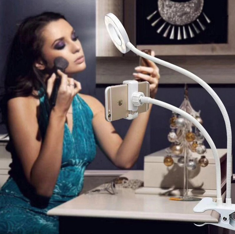 SmartLuna™ Ring Light Selfie Cell Phone Holder with Stand - CHIC GIZMO