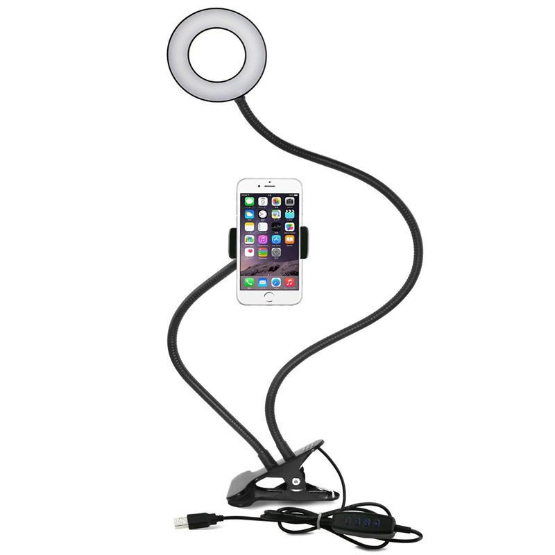 SmartLuna™ Ring Light Selfie Cell Phone Holder with Stand