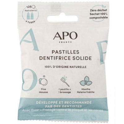 Dentifrice Solide En Pastilles - 100% naturel, Vegan - Made In France