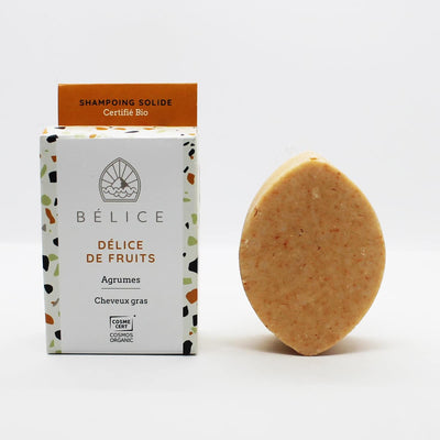 Shampoing Solide Bio - Délice de fruits - Soin Cheveux gras - Made In France