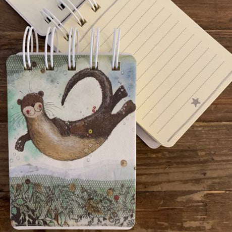 Small Spiral Otter Notebook (Alex Clark)